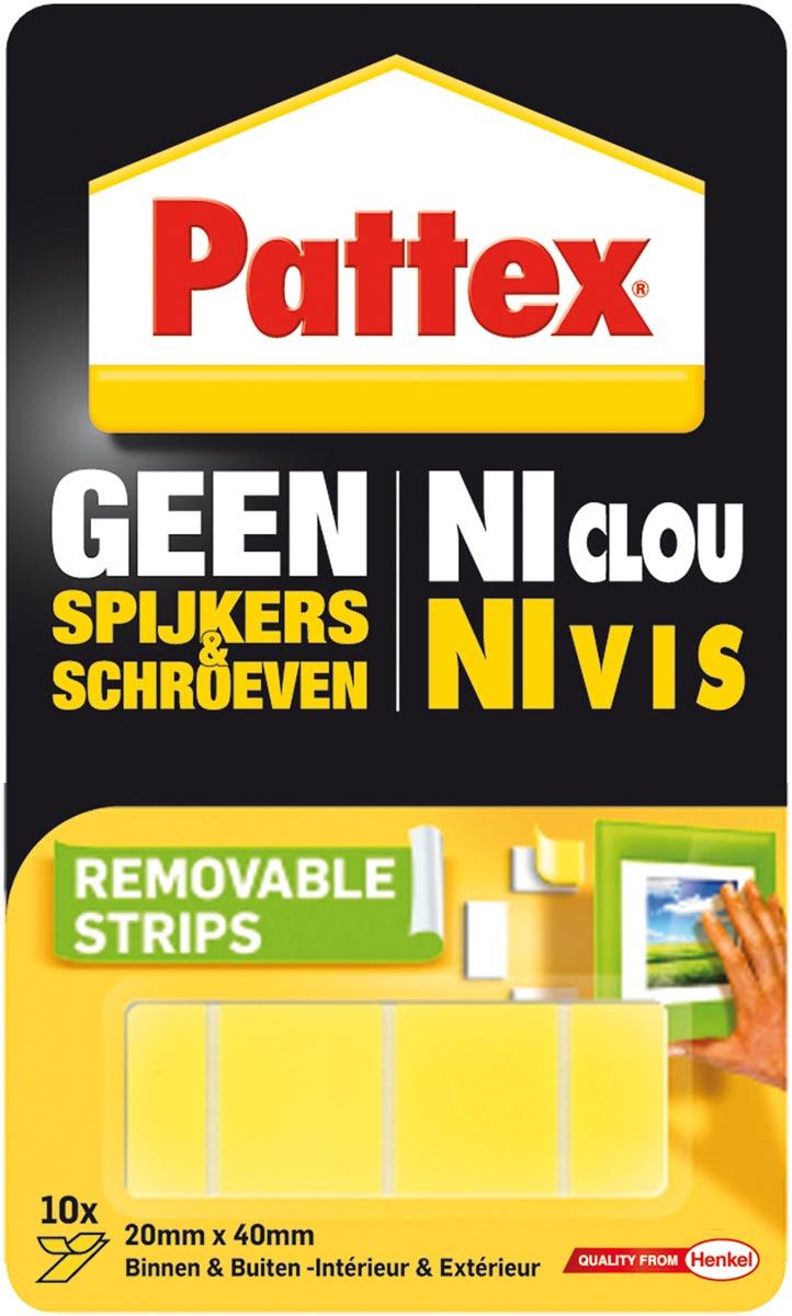 Pattex montagelstrips Geen Spijkers & Schroeven, blister van 10 stuks