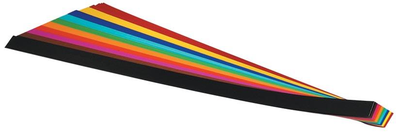 Folia vlechtstroken 50 x 1,5 cm, pak van 200 stuks in geassorteerde kleuren