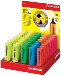 Markeerstift Stabilo Boss Original display van 40 stuks: geel, groen, blauw, oranje, rood en roze