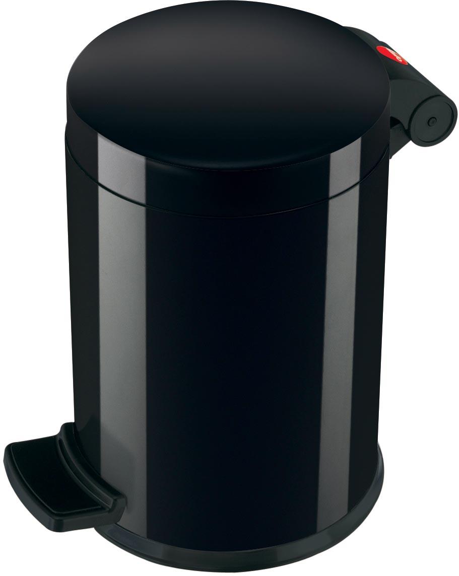 Hailo pedaalemmer voor sanitair, 4 L, zwart