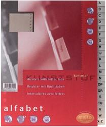 Multo tabbladen uit karton, voor ft A5, 17- gaatsperforatie