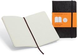 Moleskine notitieboek, ft 9 x 14 cm, gelijnd, soepele cover, 192 bladzijden, zwart
