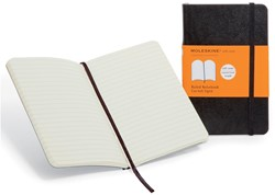 Moleskine notitieboek, ft 13 x 21 cm, gelijnd, soepele cover, 192 bladzijden, zwart