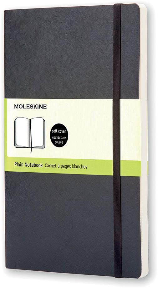 Moleskine notitieboek, ft 13 x 21 cm, effen, soepele cover, 192 bladzijden, zwart