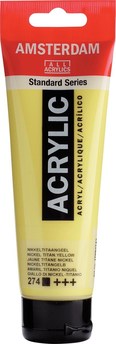 Talens acrylverf Amsterdam nikkeltitaangeel