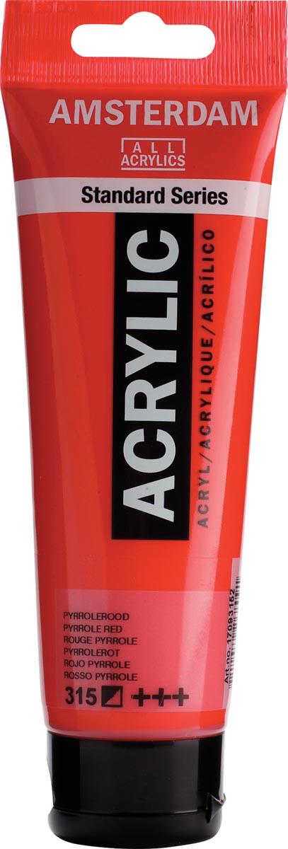 Talens acrylverf Amsterdam pyrrole rood