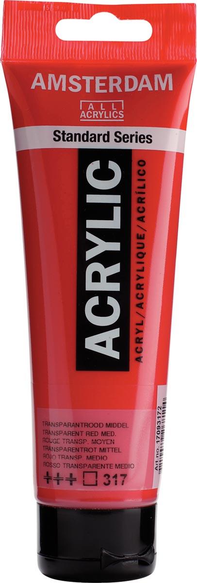 Talens acrylverf Amsterdam transparant rood middel