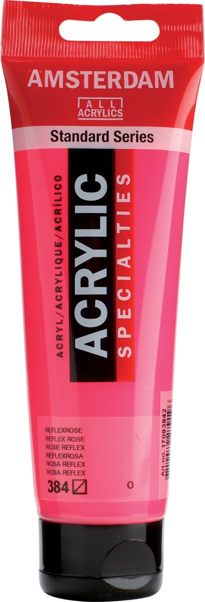 Amsterdam acrylverf, tube van 120 ml, Reflexroze