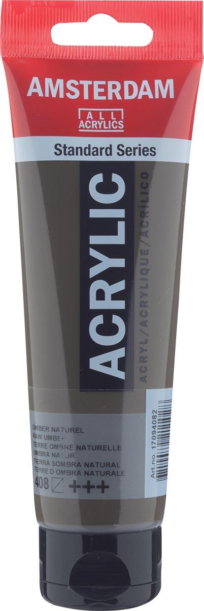 Amsterdam acrylverf, tube van 120 ml, Omber naturel