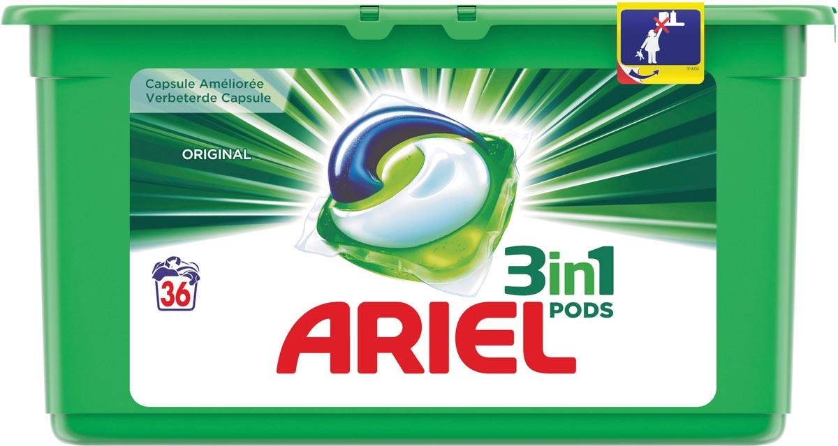 Afbeelding van Ariel 3 in 1 wasmiddel pods Regular, doos van 36 stuks