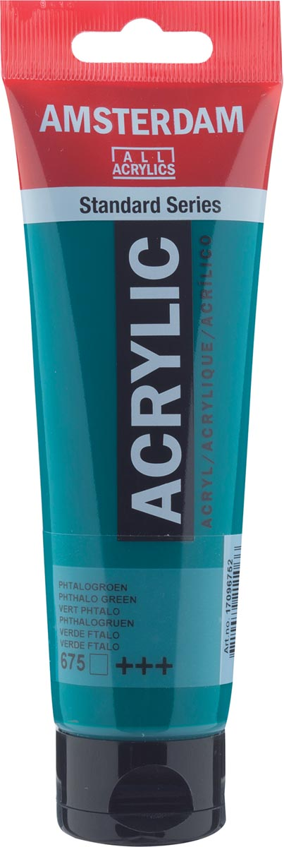 Amsterdam acrylverf, tube van 120 ml, Phtalogroen