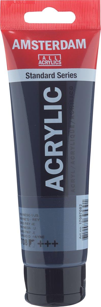 Amsterdam acrylverf, tube van 120 ml, Payne's grijs