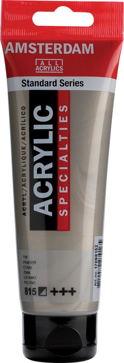 Amsterdam acrylverf, tube van 120 ml, Tin