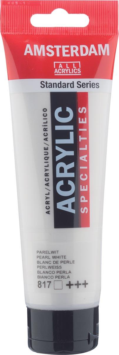 Amsterdam acrylverf, tube van 120 ml, Parelwit