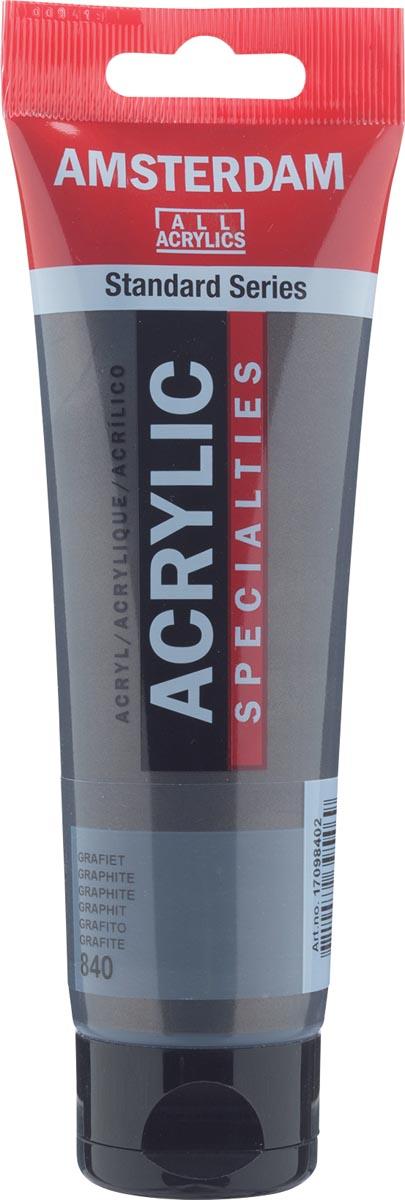Amsterdam acrylverf, tube van 120 ml, Grafiet