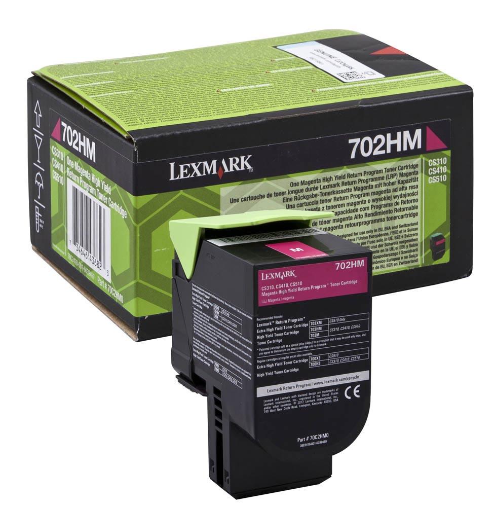 Lexmark toner magenta return program 702HM, 3000 pagina's - OEM: 70C2HM0