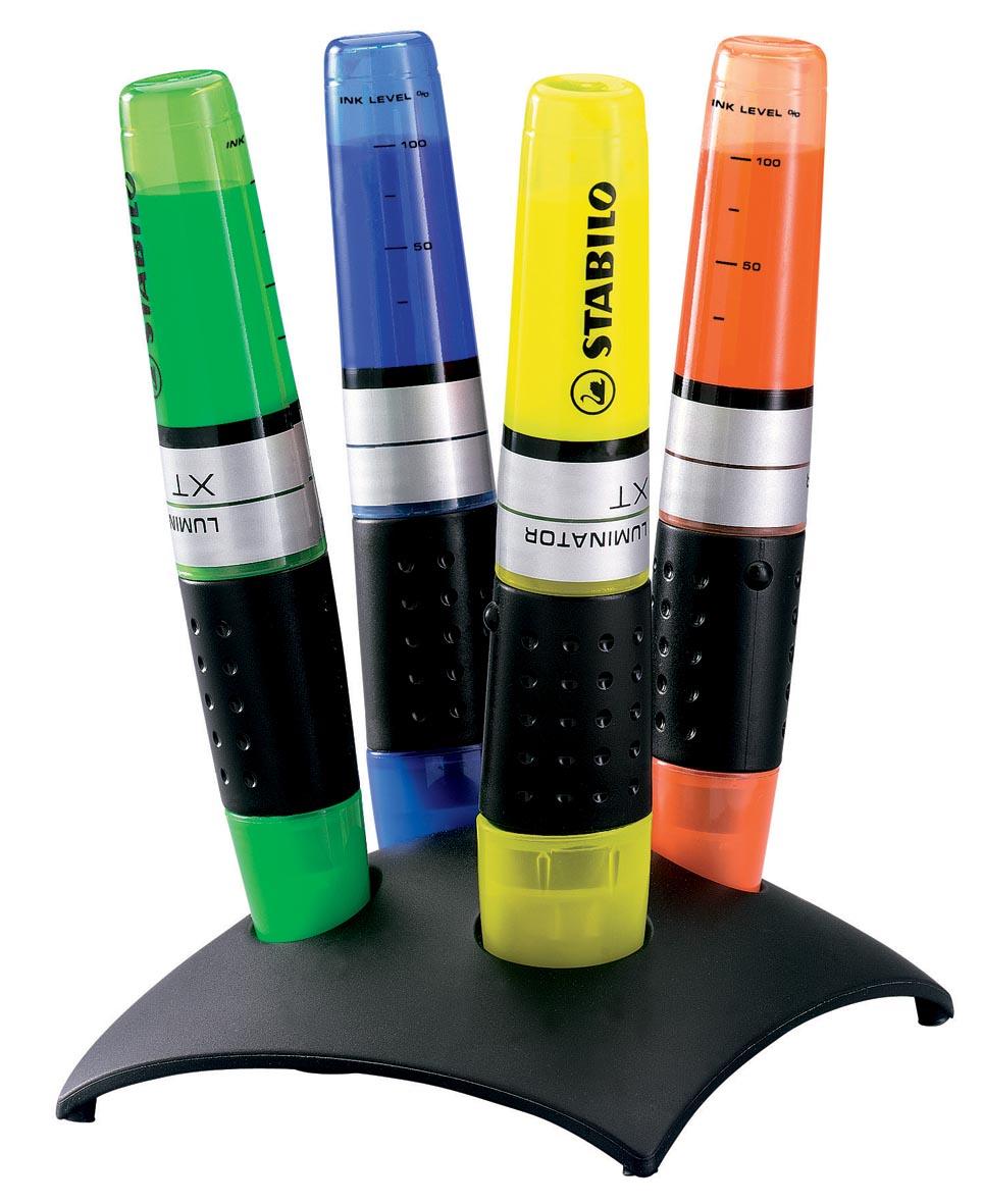 STABILO LUMINATOR markeerstift, deskset van 4 stuks in geassorteerde kleuren