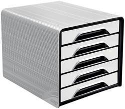 Smoove by CEP ladenblok met 5 laden, wit/zwart