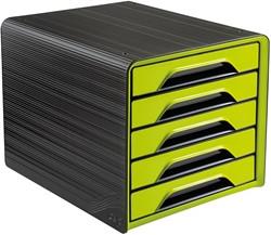 Smoove by CEP ladenblok met 5 laden, zwart/groen