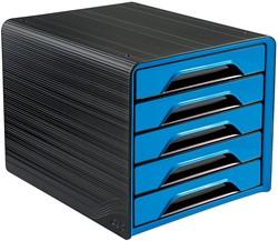 Smoove by CEP ladenblok met 5 laden, zwart/blauw
