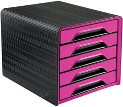 Smoove by CEP ladenblok met 5 laden, zwart/roze