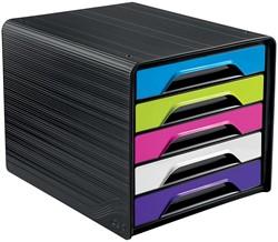Smoove by CEP ladenblok met 5 laden, zwart kader met geassorteerde laden