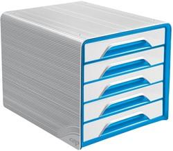 Smoove by CEP ladenblok met 5 laden, wit/blauw