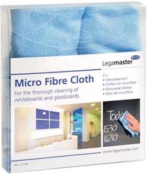 Legamaster microvezeldoek voor whiteboard, blauw, pak met 2 stuks