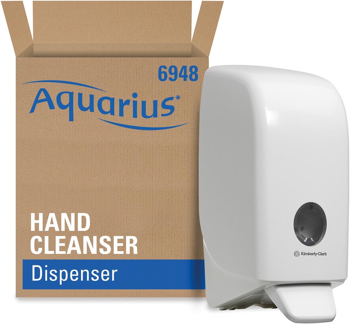 Kimberly-Clark Aquarius dispenser voor handdesinfectie, cassette, wit, 1 liter