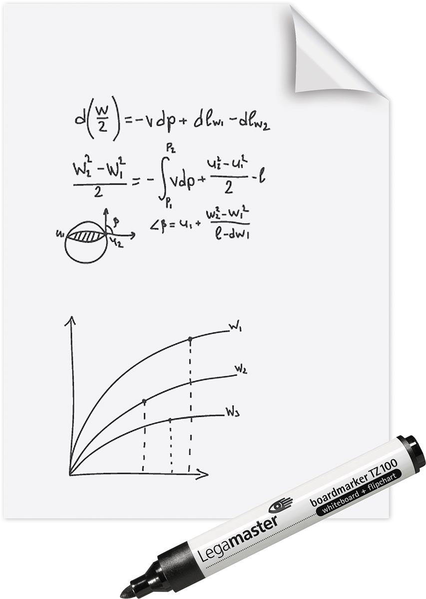 Legamaster Magic-Chart whiteboard folie, ft 60 x 80 cm, wit, effen, rol van 25 vel