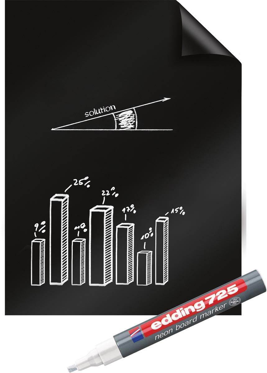 Legamaster Magic-Chart blackboard folie, ft 60 x 80 cm, zwart, rol van 25 vel