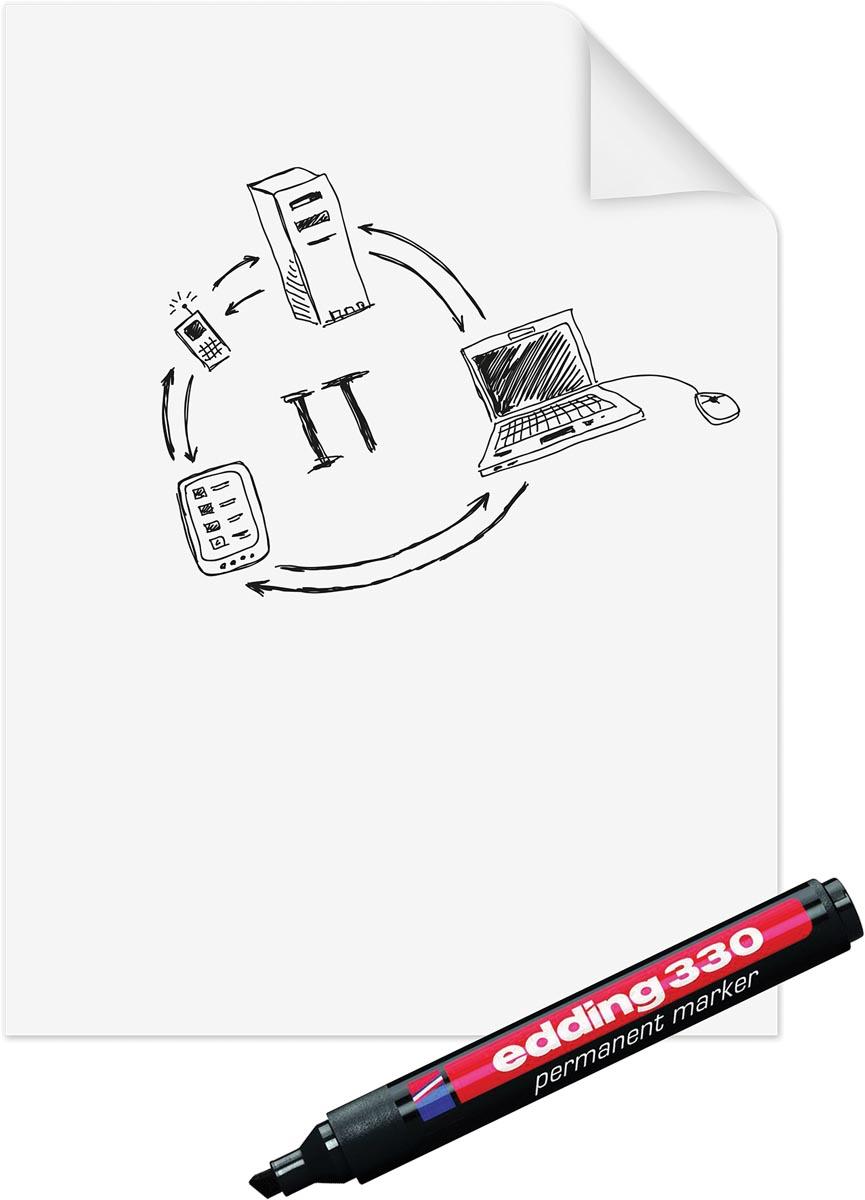 Legamaster Magic-Chart paperchart folie, ft 60 x 80 cm, wit, rol van 25 vel