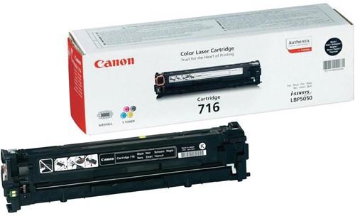 Canon toner 716BK, 2.300 pagina's, OEM 1980B002, zwart