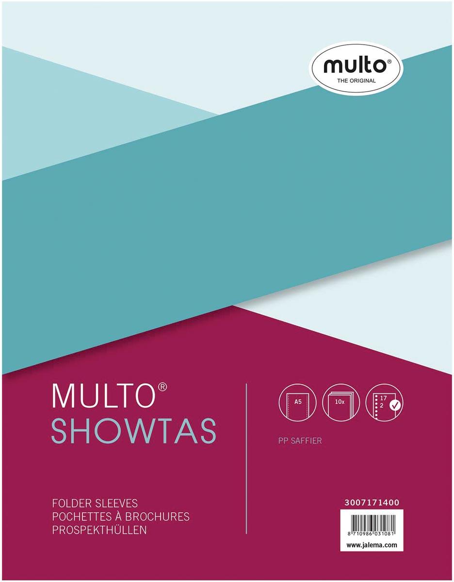 Multo geperforeerde showtas ft A5, 17-gaatsperforatie, 80 micron, gekorreld