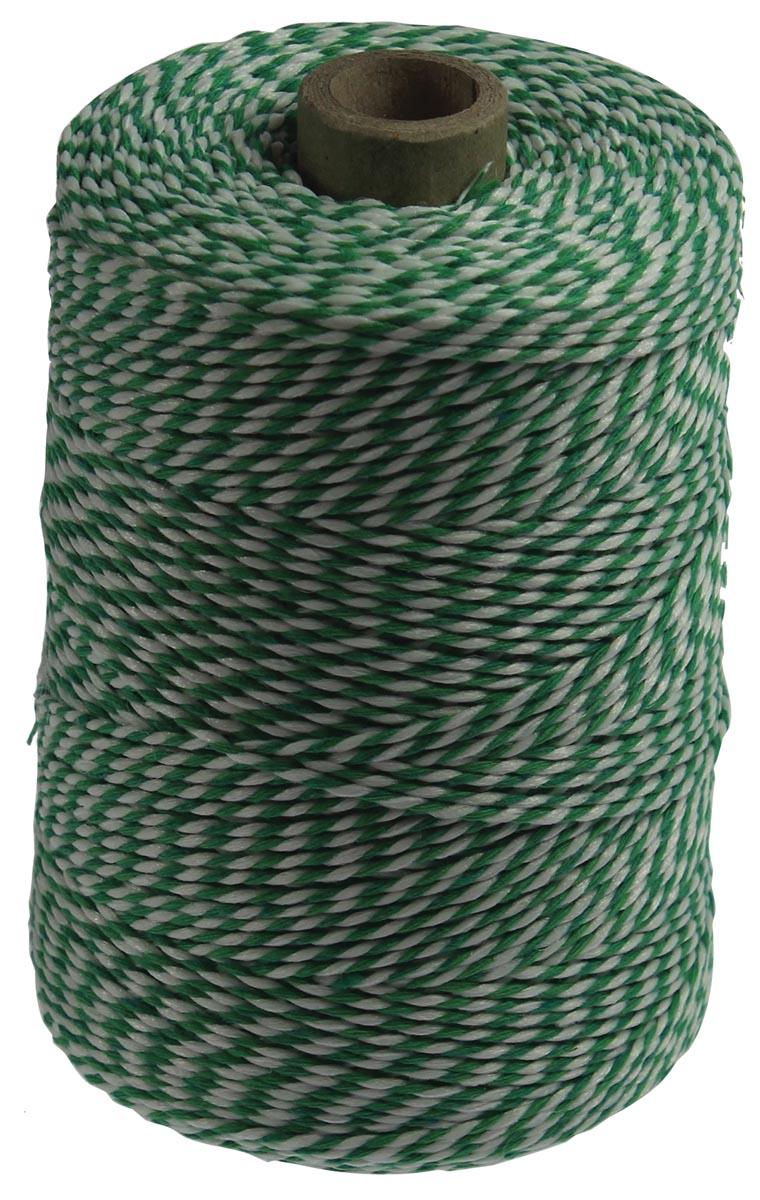 Katoentouw, groen-wit, klos van 200 g, ongeveer 200 m