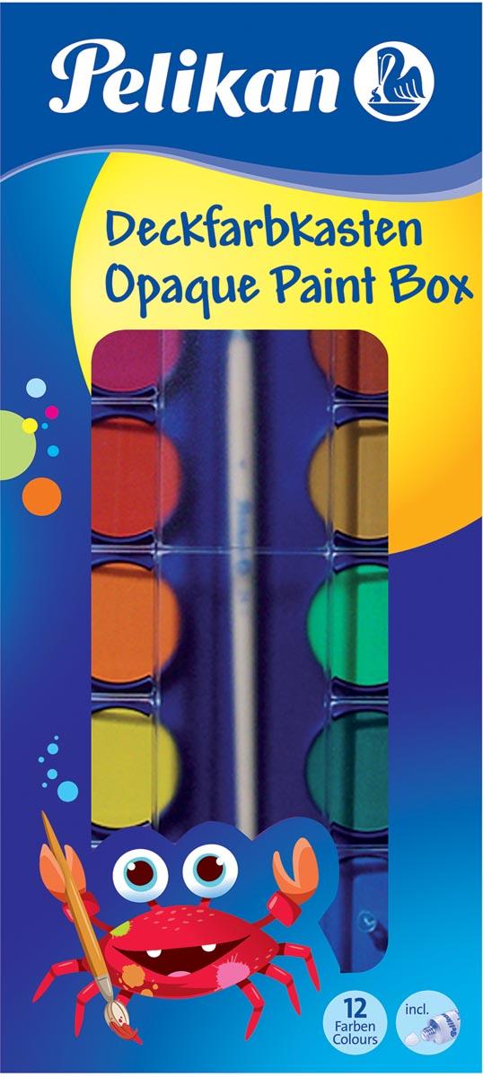 Pelikan verfdoos plakkaatverf Paintbox 12 napjes