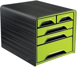Smoove by CEP ladenblok met 5 mix laden, zwart/groen
