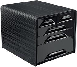 Smoove by CEP ladenblok met 5 mix laden, zwart