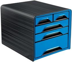 Smoove by CEP ladenblok met 5 mix laden, zwart/blauw