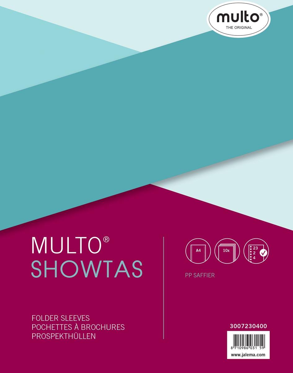 Multo geperforeerde showtas ft A4, 23-gaatsperforatie, 80 micron, gekorreld