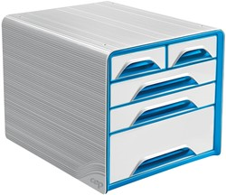 Smoove by CEP ladenblok met 5 mix laden, wit/blauw