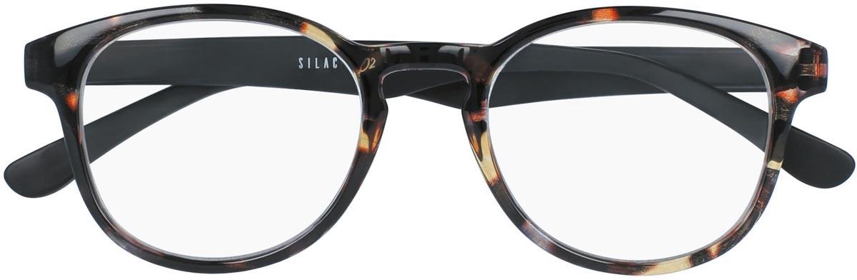 SILAC Turtle & Wood leesbril, turtle polycarbonate met veren in houtimitatie, +2,50