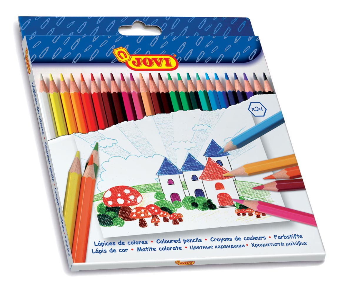 Jovi kleurpotlood 24 potloden