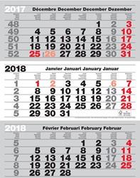 3-maand kalender Benelux 2018