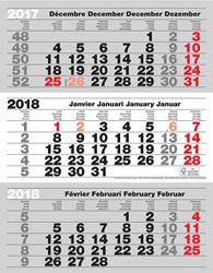 3-maand kalender Benelux 2019