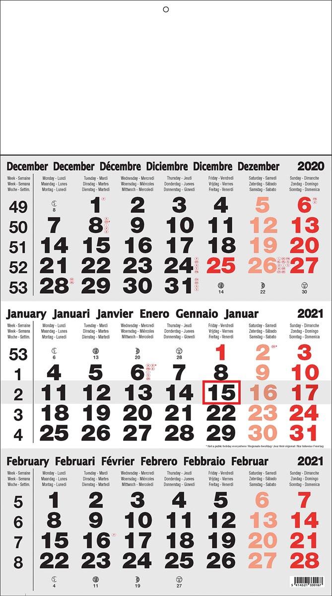 3-maand kalender Benelux 2020