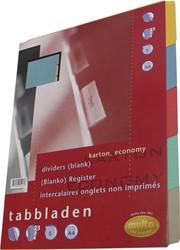 Multo tabbladen ft A5, 5-delig, 17-gaatsperforatie, karton van 250 g/m²