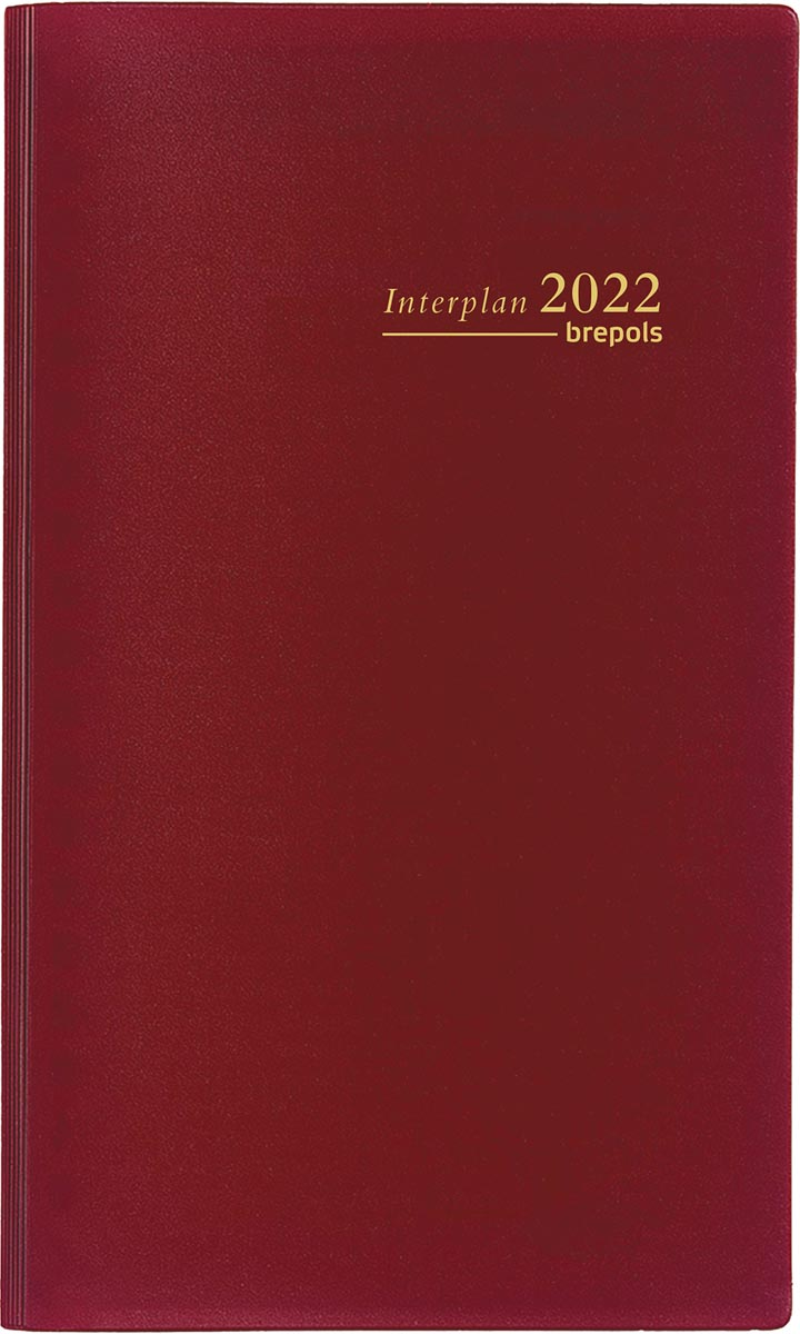 Brepols Interplan Seta Nederlandstalig, bordeaux, 2022
