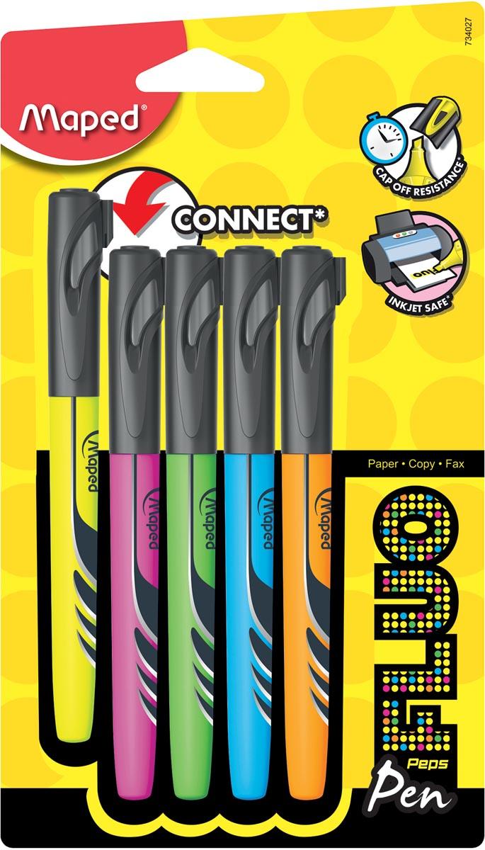 Maped markeerstift Fluo Pen, blister met 5 stuks