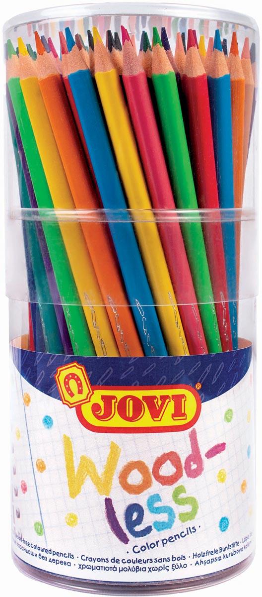 Jovi Kleurpotlood Woodless, doos van 48 stuks